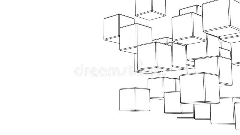 Schleifen-fähige Schwarze Draht-Rahmen-Würfel-Zusammenfassung Auf ...
