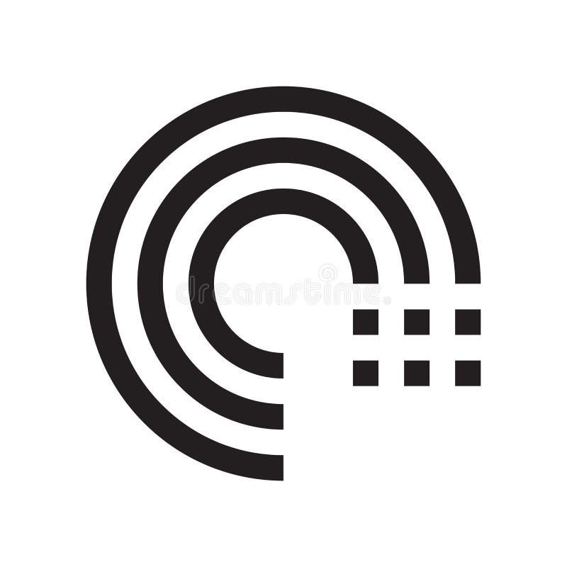 Schleifenikonenvektorzeichen und -symbol lokalisiert auf weißem Hintergrund lizenzfreie abbildung