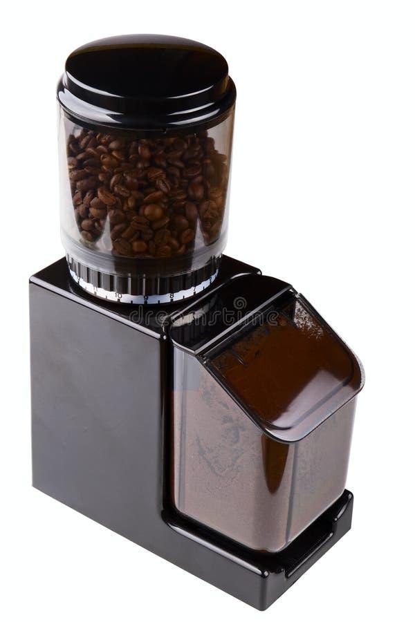 Schleifer des schwarzen Kaffees lizenzfreie stockbilder