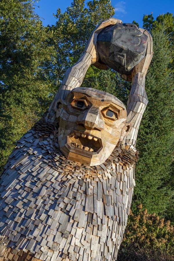 Schleppangel bei Morton Arboretum in Lisle stockfotos