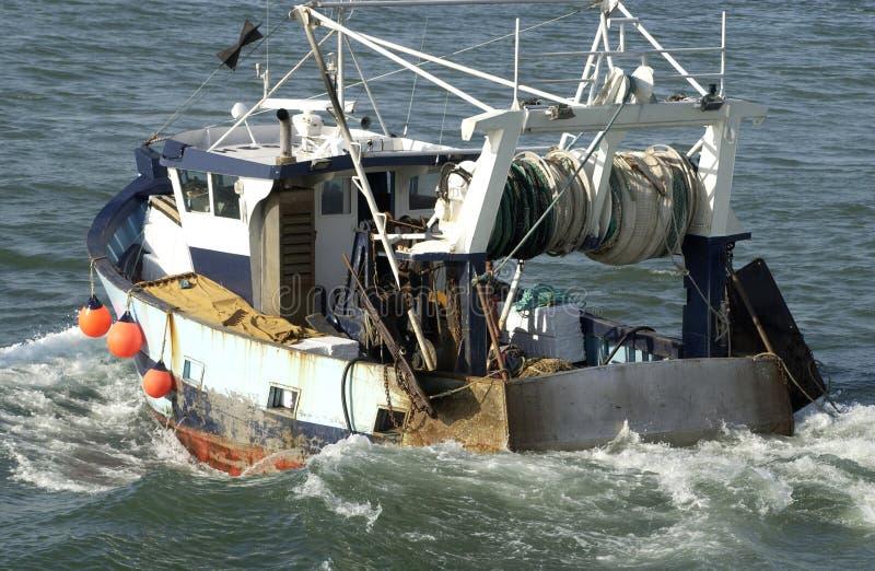 Schleppnetzfischer stockfoto