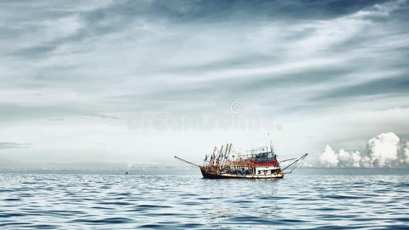 Schleppnetzfischer-Gruppe lizenzfreies stockfoto