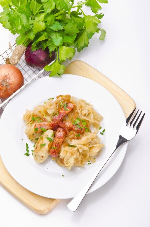 Schlesische Kartoffelmehlklöße lizenzfreies stockbild