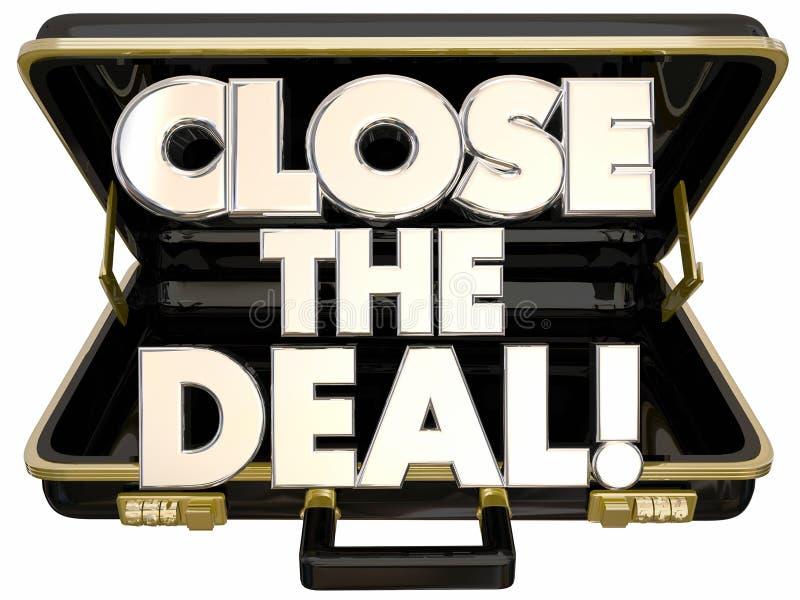 Schließen Sie den Abkommen-Aktenkoffer-Verkaufs-Erfolg lizenzfreie abbildung