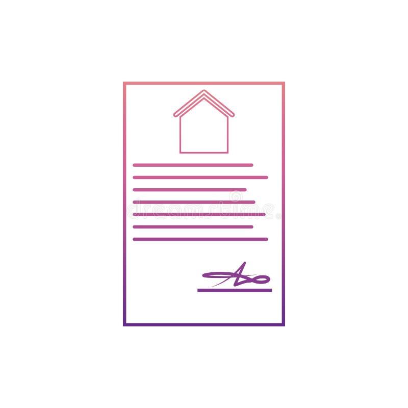 schließen Sie für den Kauf eines apartmenticon in Nolan-Art Vertrag ab Ein der Netzsammlungsikone kann für UI, UX verwendet werde stock abbildung