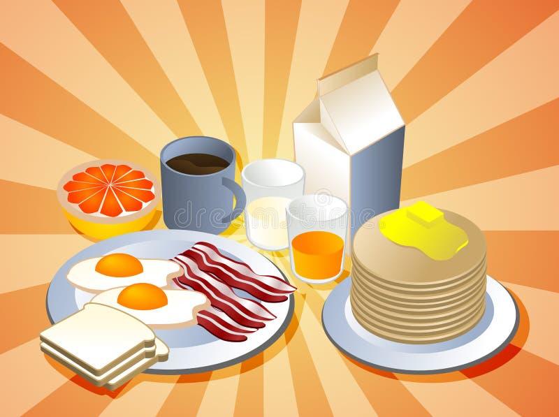 Schließen Sie Frühstück ab stock abbildung