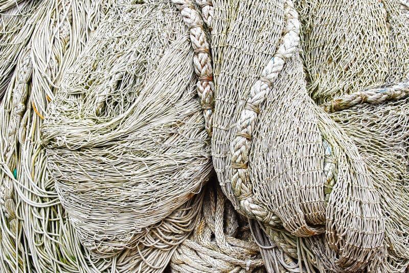 Schließen Sie herauf Ansicht des Fischernetzes. lizenzfreie stockfotografie