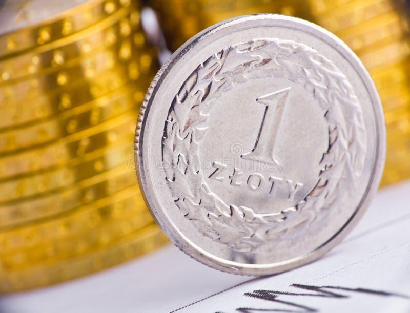 Schließen Sie herauf Ansicht des Polen-Bargeldes stockfoto