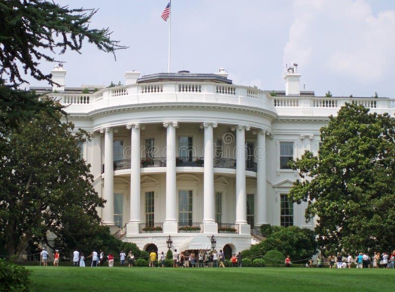 Schließen Sie herauf Ansicht des Weißen Hauses stockfotos