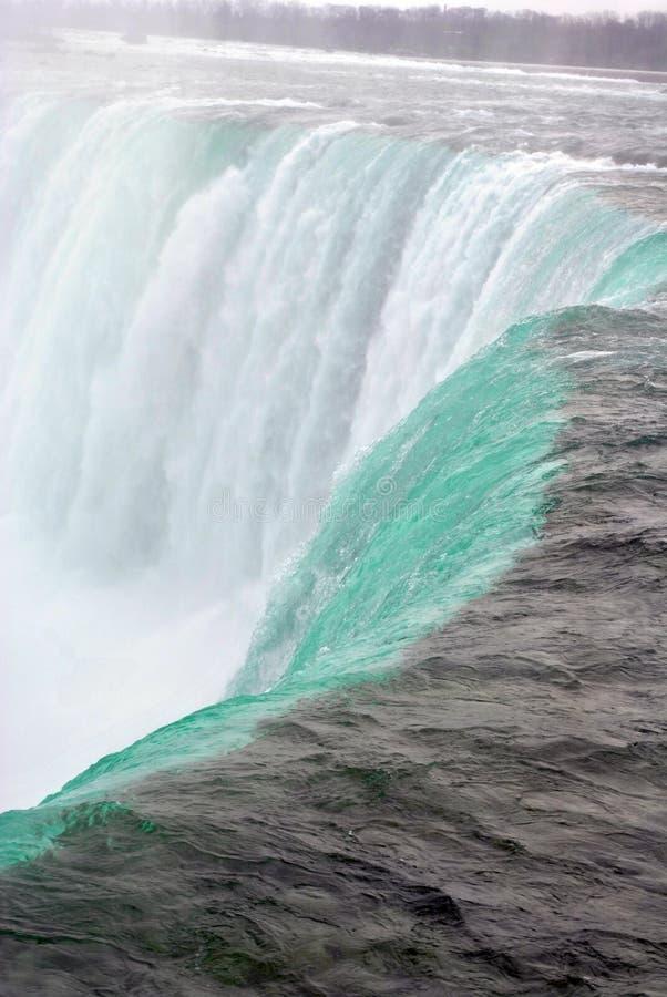 Schließen Sie herauf Ansicht von Niagara Falls im Winter lizenzfreies stockfoto