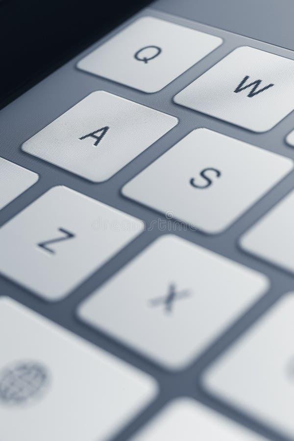 Schließen Sie herauf Ansicht von Tasten der Computertastatur stockfoto