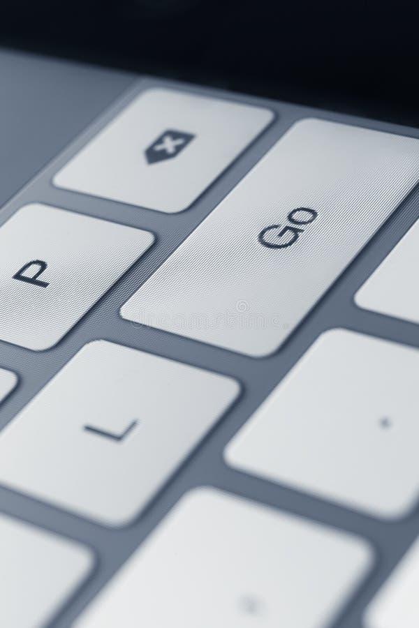 Schließen Sie herauf Ansicht von Tasten der Laptoptastatur stockbild