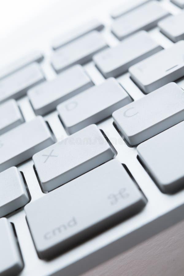 Schließen Sie herauf Ansicht von Tasten der PC-Tastatur stockfotografie