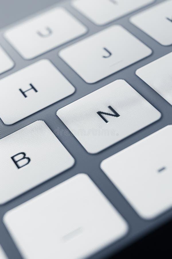 Schließen Sie herauf Ansicht von Tasten der PC-Tastatur stockbilder