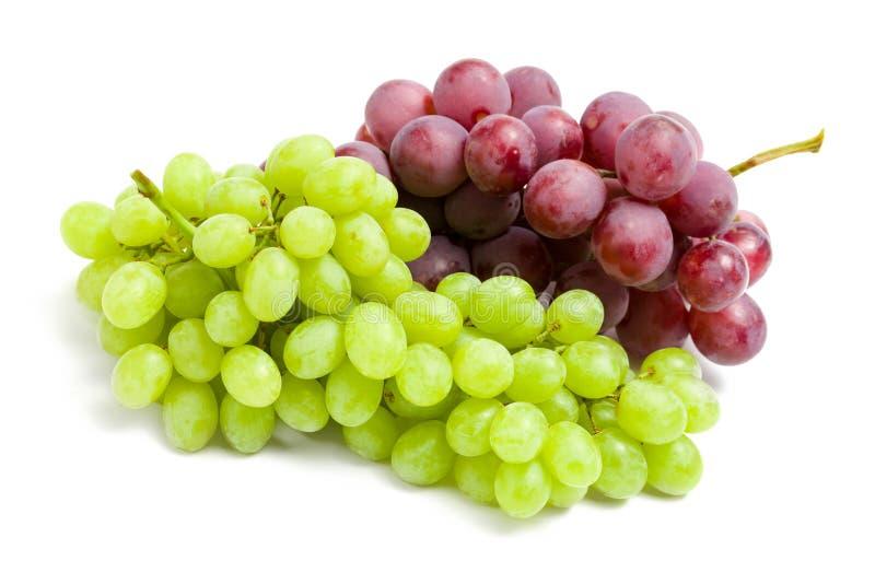 Schließen Sie herauf Ansicht von zwei Weintrauben lizenzfreies stockfoto