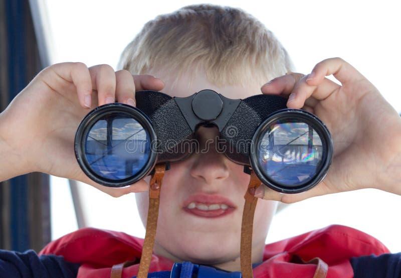Schließen Sie herauf binokulares Glas stockbilder