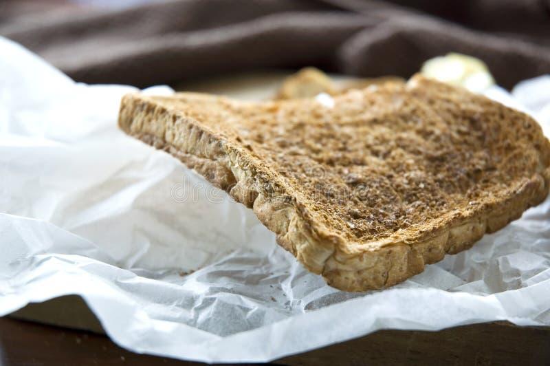 Schließen Sie herauf Brottoast lizenzfreie stockbilder