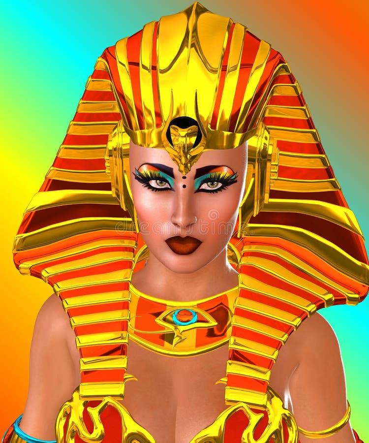 Schließen Sie herauf Cleopatra Concept vektor abbildung