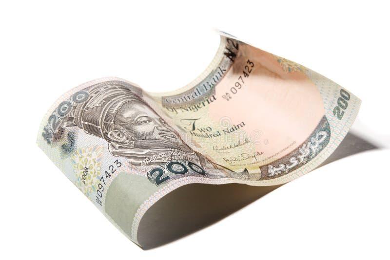 Schließen Sie herauf die 200-Naira-Banknote lizenzfreie stockbilder