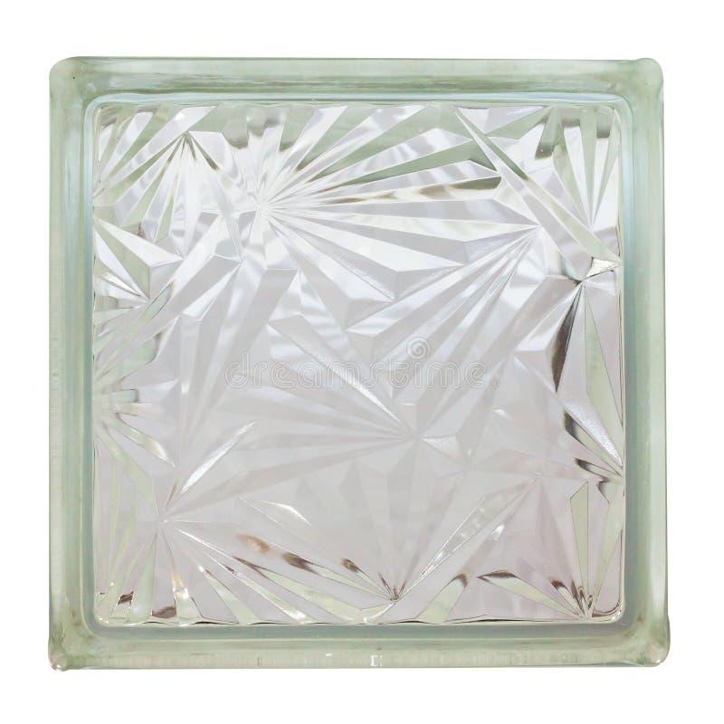 Schließen Sie herauf Glasblock lizenzfreies stockbild