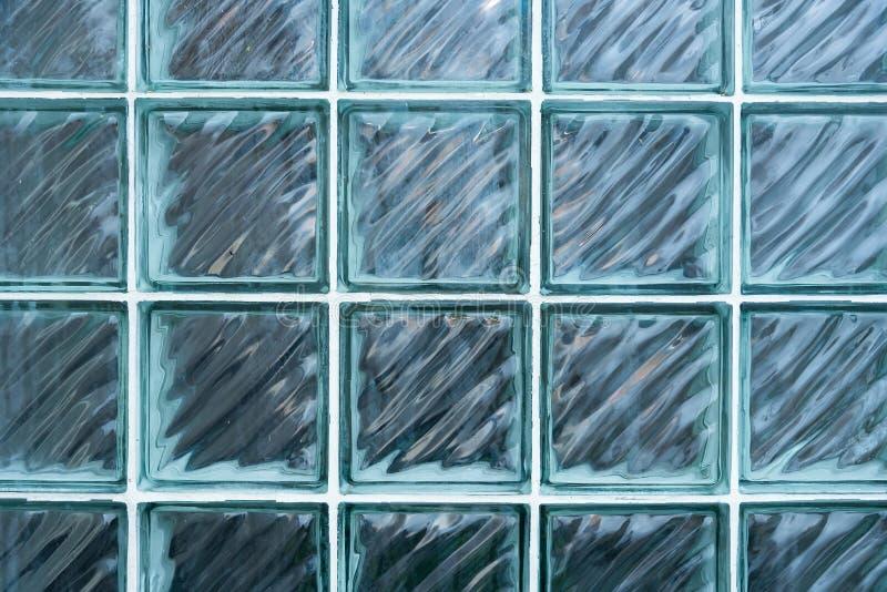 Schließen Sie herauf Glasblock-Wandmusterhintergrund lizenzfreie stockfotografie
