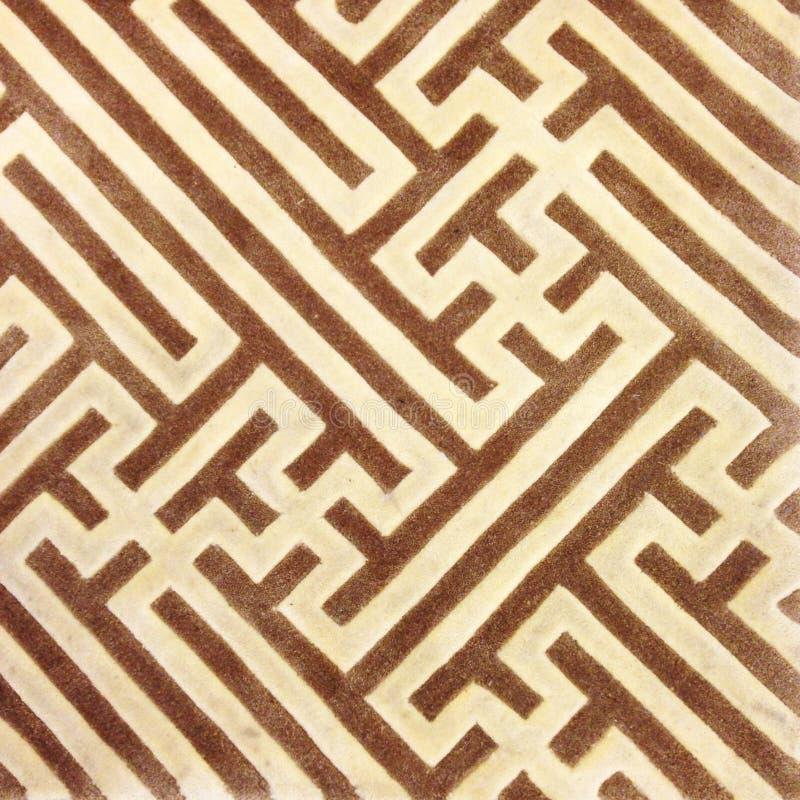 Schließen Sie herauf Linie Braunteppich-Beschaffenheitshintergrund lizenzfreies stockbild