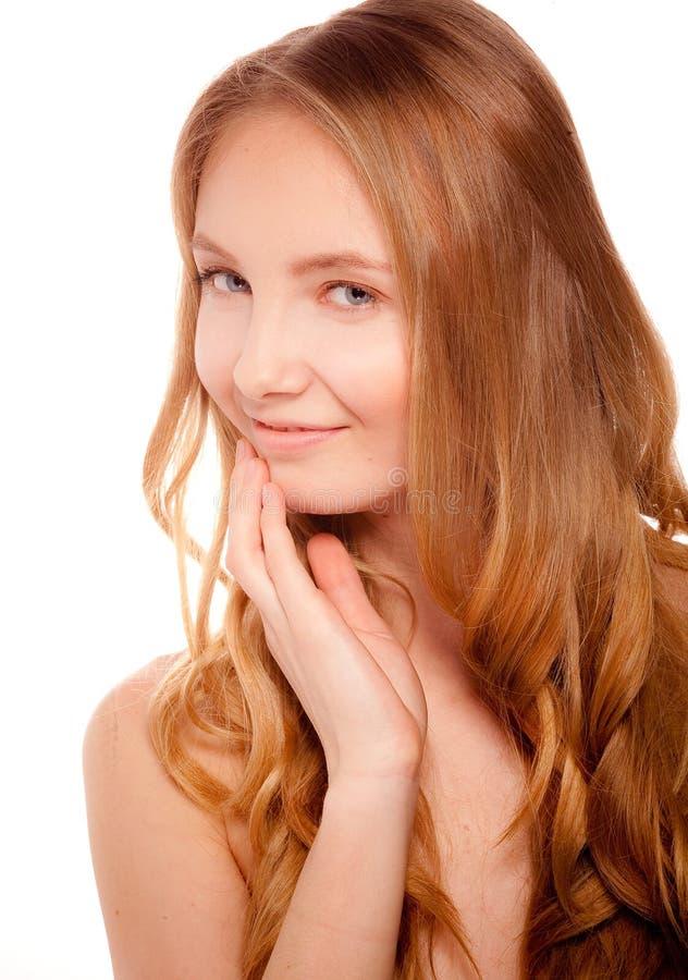 Schließen Sie herauf Porträt der schönen jungen Frau lizenzfreies stockfoto