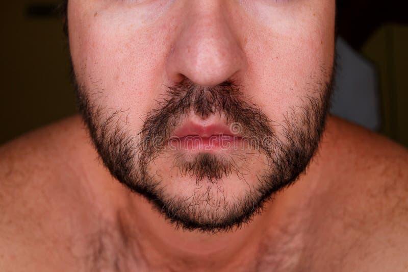 Schließen Sie herauf Porträt eines Mannes lizenzfreies stockbild