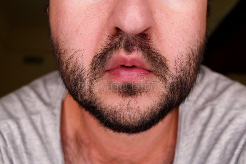 Schließen Sie herauf Porträt eines Mannes lizenzfreie stockfotografie