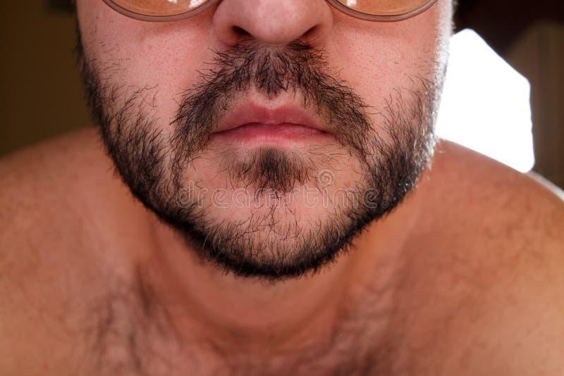 Schließen Sie herauf Porträt eines Mannes stockbilder