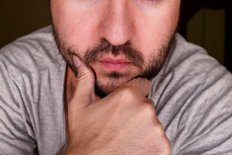 Schließen Sie herauf Porträt eines Mannes lizenzfreie stockbilder