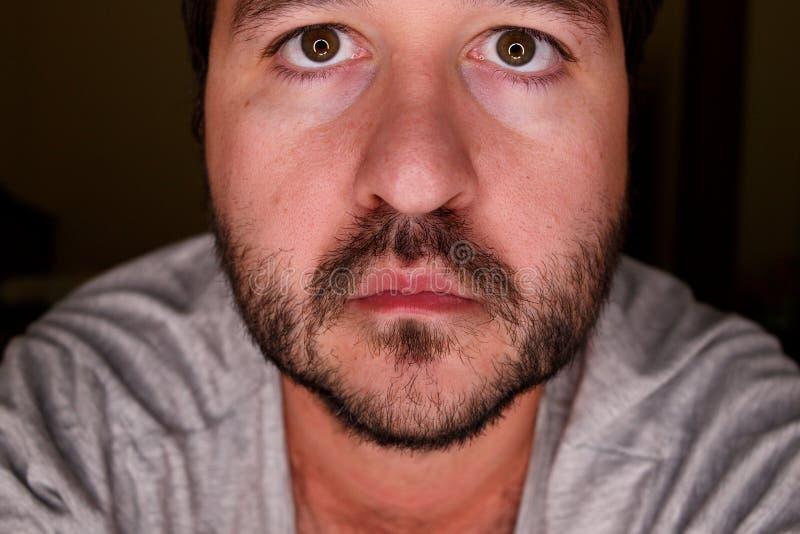 Schließen Sie herauf Porträt eines Mannes stockfoto
