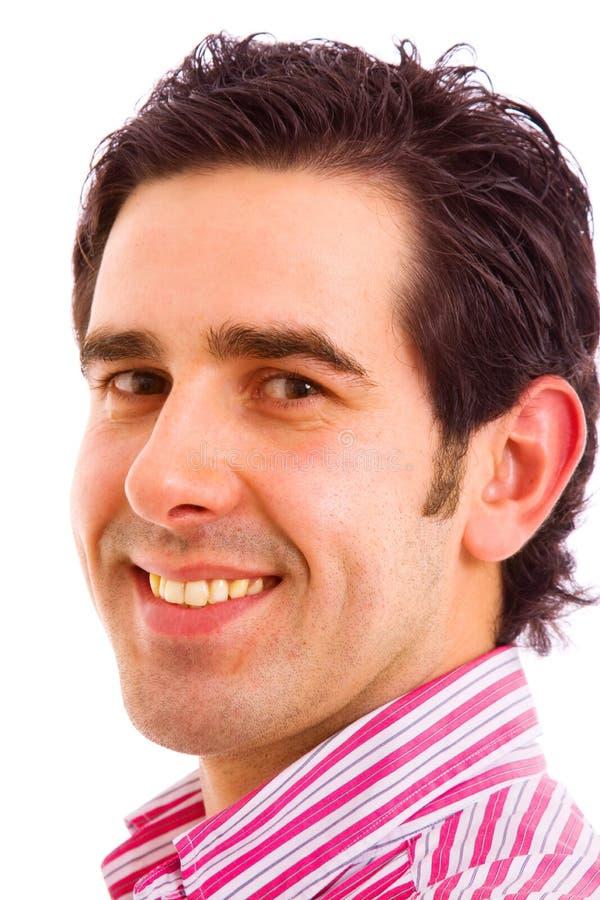 Schließen Sie herauf Portrait des jungen Mannes lizenzfreie stockbilder