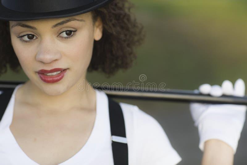 Schließen Sie herauf Portrait des Tänzers lizenzfreie stockbilder