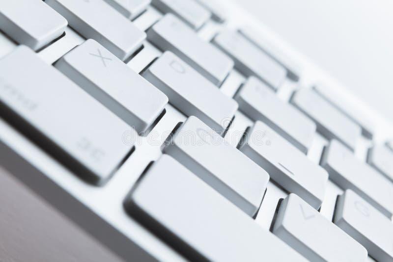 Schließen Sie herauf Schuß von Tasten der Computertastatur lizenzfreie stockfotos
