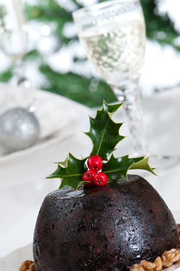 Schließen Sie herauf Weihnachtspudding stockfotos
