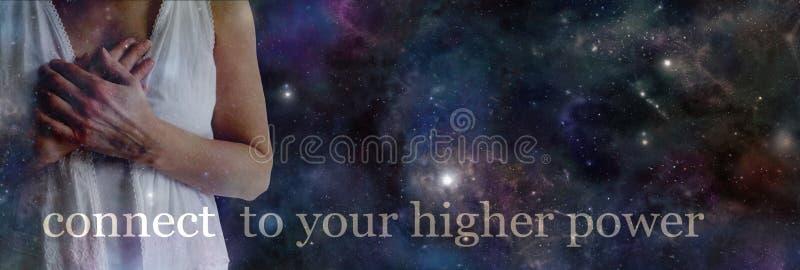 Schließen Sie an Ihre höhere Energie an stockbilder