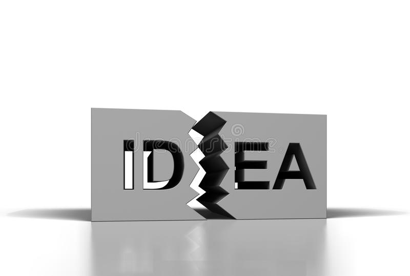 Schließen Sie mit Ideentext zu vektor abbildung