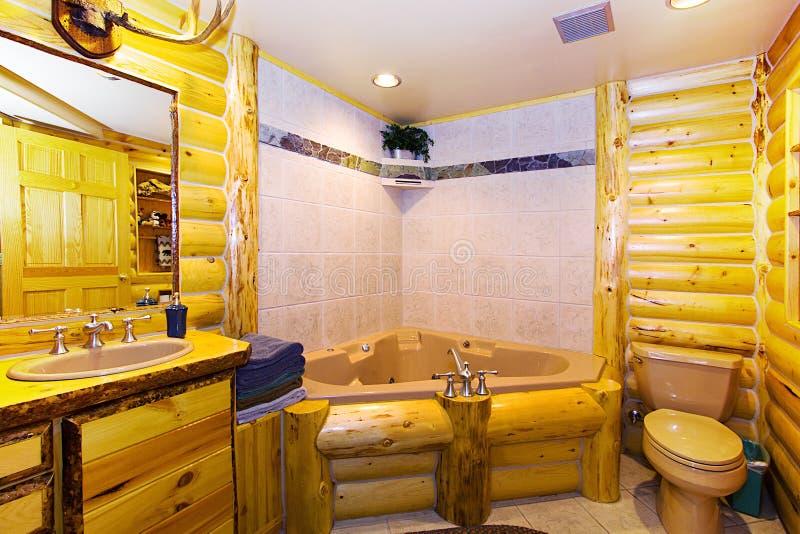Schließen Sie oben auf einem Badezimmer in einer Kabine stockfoto
