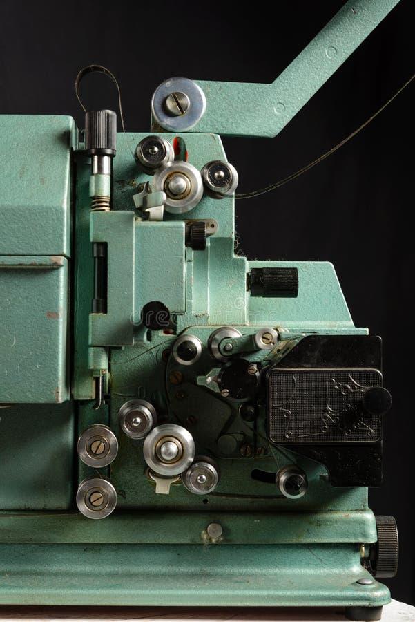 Schließen Sie oben vom alten 8mm Film-Projektor stockfoto