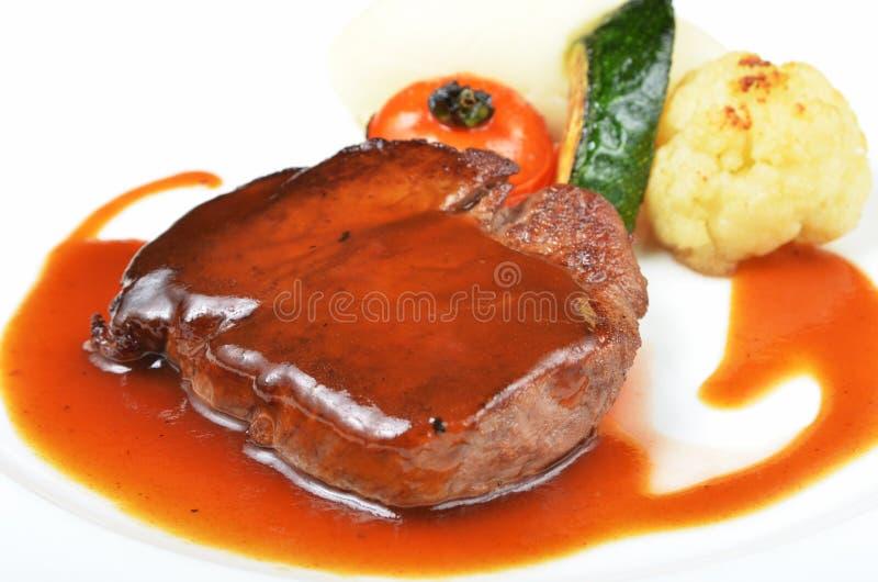 Schließen Sie oben vom Beefsteak lizenzfreies stockbild