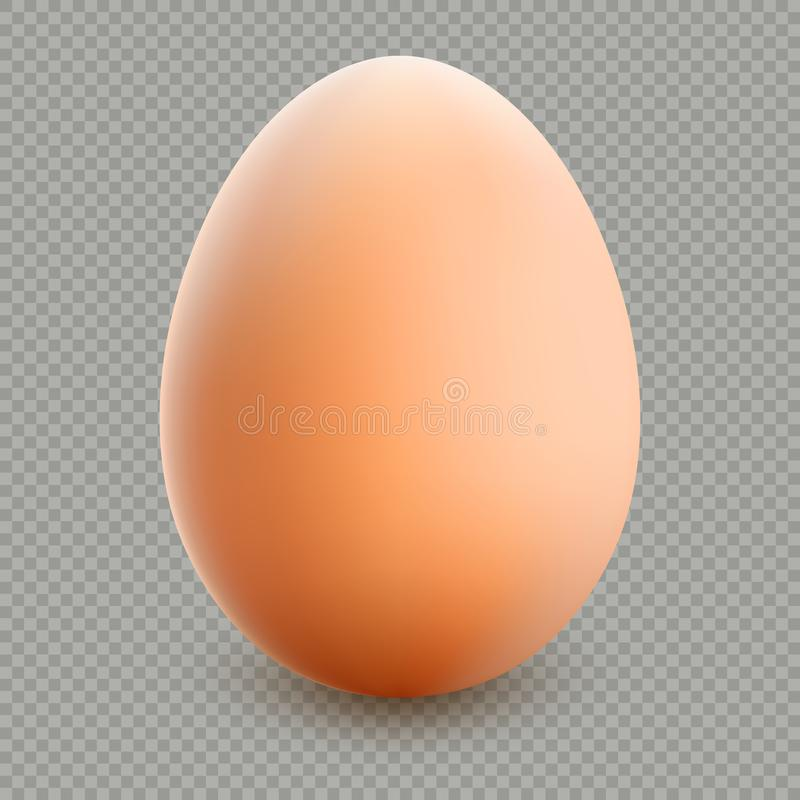 Schließen Sie oben vom braunen lokalisierten Ei ENV 10 lizenzfreie abbildung