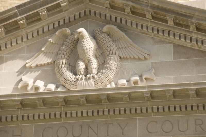 Schließen Sie oben vom Grafschaft-Gericht lizenzfreies stockbild