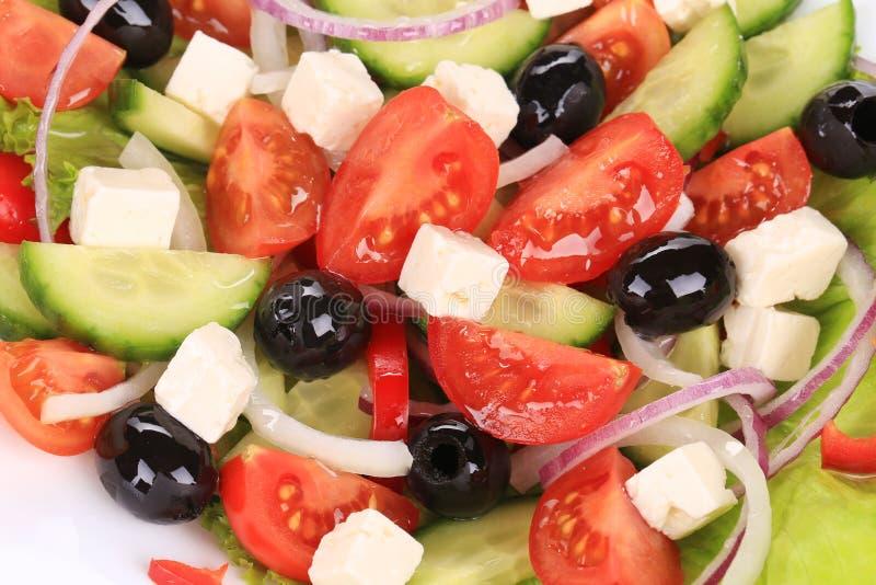 Schließen Sie oben vom griechischen Salat. lizenzfreies stockbild