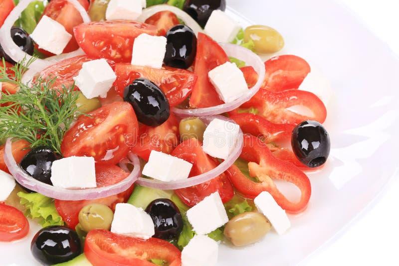 Schließen Sie oben vom griechischen Salat. stockfotografie
