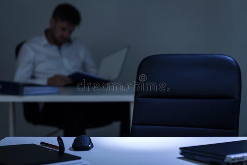 Schließen Sie oben vom leeren Schreibtisch lizenzfreie stockfotos