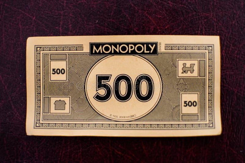 Schließen Sie oben vom Monopolgeld lizenzfreies stockfoto