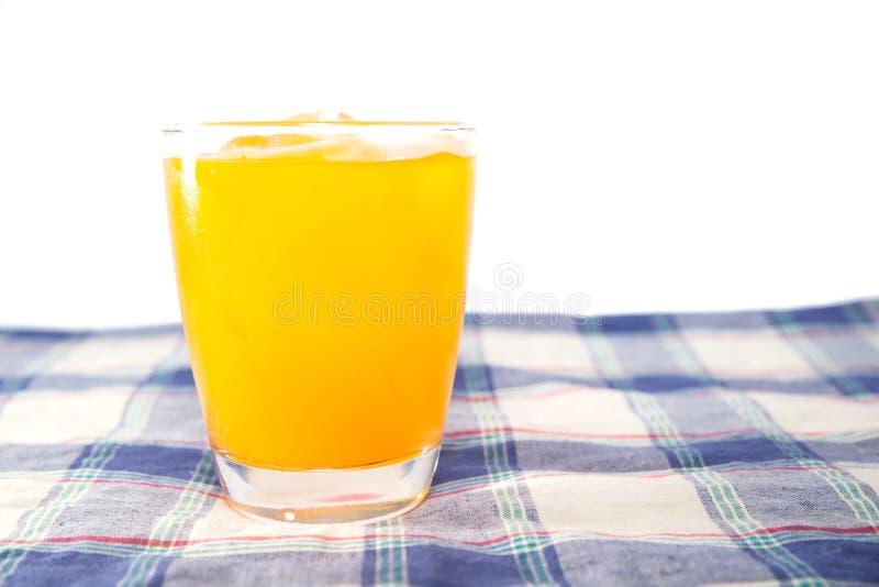 Schließen Sie oben vom Orangensaft lizenzfreies stockbild