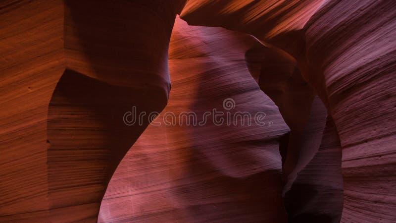 Schließen Sie oben vom roten Felsen an der unteren Antilopen-Schlucht stockbild