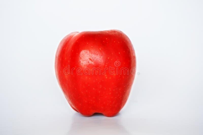 Schließen Sie oben vom sehr frischen roten Apfel lizenzfreie stockbilder